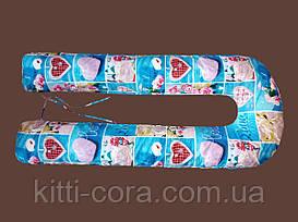 """Цветная U образная подушка для беременных """"Love""""."""
