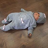 Человечек+ шапочка для новорожденных, фото 1