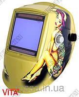 Сварочная маска хамелеон WH 9801 с девушкой, фото 1