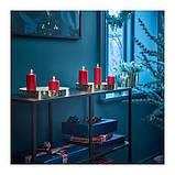 IKEA VINTER 2018 Неароматическая формовая свеча, 5 шт, красный, фото 2