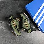 Мужские кроссовки Adidas Yung (темно-зеленые), фото 2