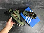 Мужские кроссовки Adidas Yung (темно-зеленые), фото 3