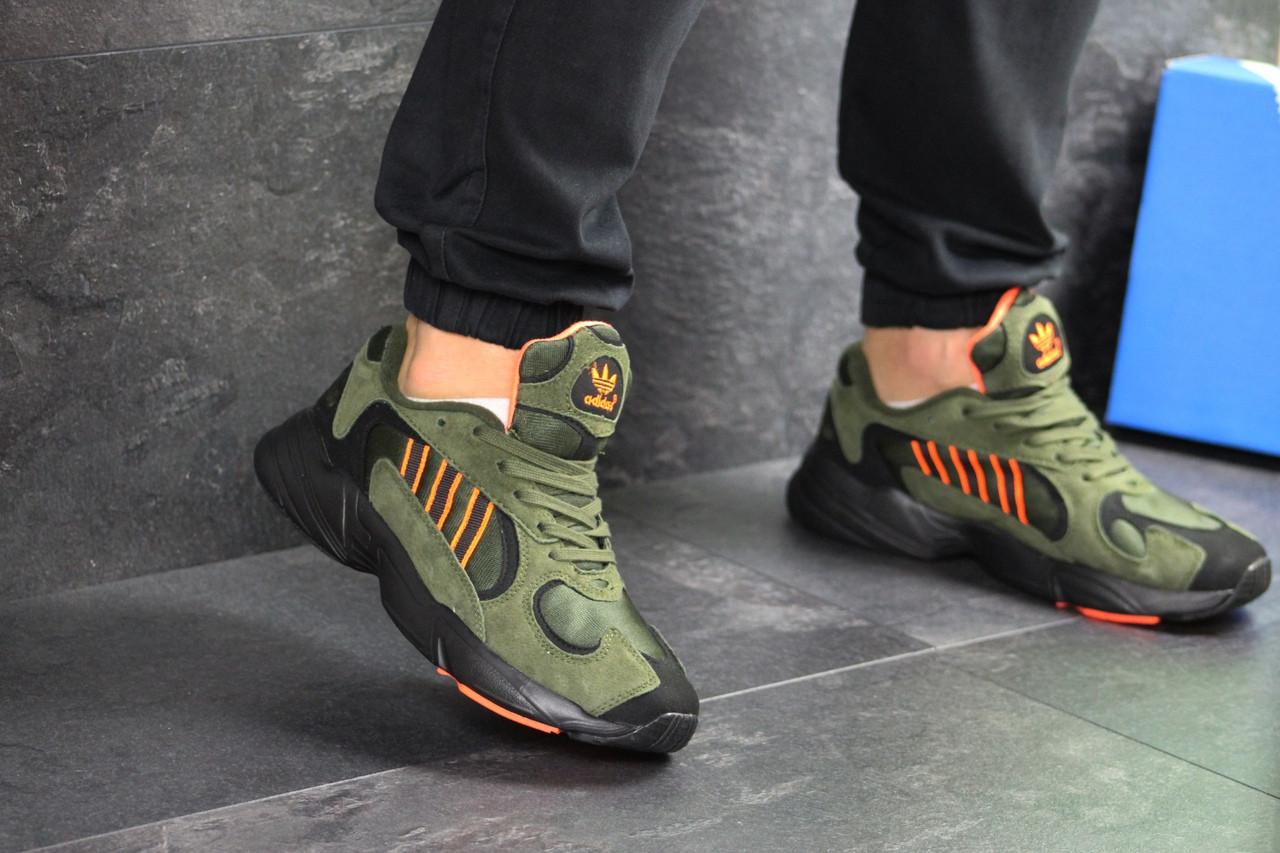 Мужские кроссовки Adidas Yung (темно-зеленые)
