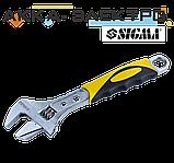 Ключ разводной 200мм, 0-30мм CrV (TPR) Sigma (4100921), фото 3