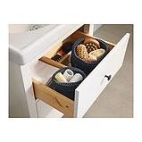 IKEA НОРДРЭНА Набор корзин,2 штуки, серый, фото 4