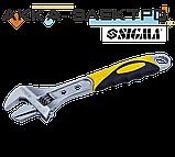 Ключ разводной 250мм, 0-35мм CrV (TPR) Sigma (4100931), фото 3
