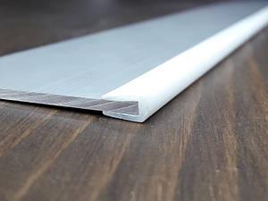 Окантовочный | Торцевой пластиковый профиль для плоских материалов толщиной 2мм. Цвет белый