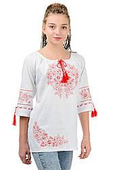 """Женская сорочка вышиванка """"Модерн"""", молочная, размер 42 - 52"""
