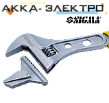 Ключ розвідний 300мм, 0-41мм CrV (TPR) Sigma (4100941), фото 2