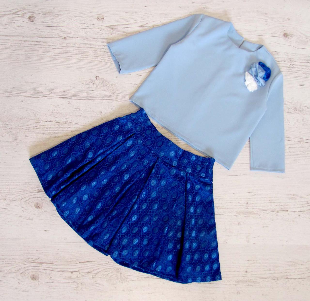 Детский костюм юбка+блузка р.128-152 Орнелла, фото 1