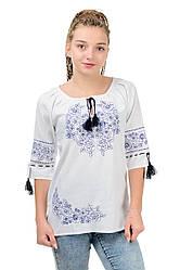 """Женская сорочка вышиванка """"Модерн"""", белая, размер 42 - 52"""