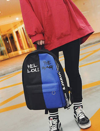 Крутой тканевый рюкзак для школы, фото 2