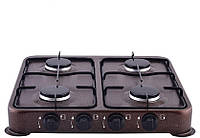 Газовая плита настольная таганок Domotec MS 6604 на 4 конфорки