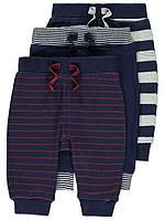 Хлопковые спортивные штаны для мальчика от George (Джордж, Англия) 6-9 мес на рост 68-74 см