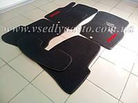 Ворсовые коврики в салон Nissan Almera Classic c 2006-2012 гг. (Черные)