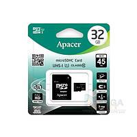 Карта памяти Apacer 32GB microSD (microSDHC) сlass10 UHS-I + SD адаптер