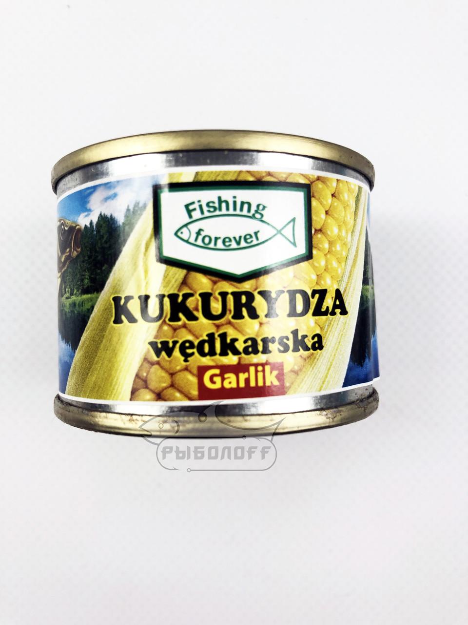 """Прикормка кукуруза со вкусом чеснока """"Fishing Forever"""""""