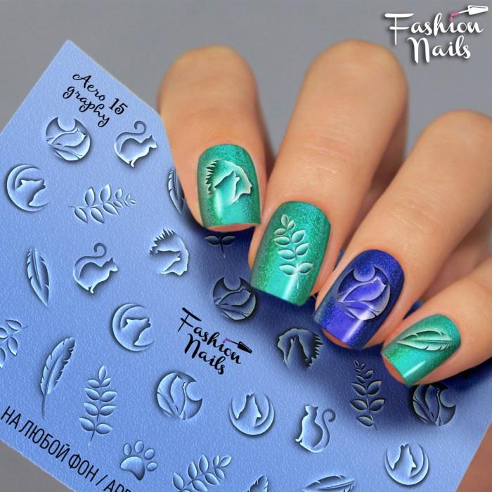 Слайдер-дизайн Fashion nails - наклейка на нігті