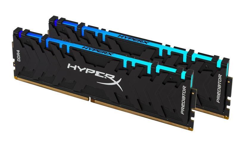 Модуль памяти DDR4 2x8GB/3600 Kingston HyperX Predator RGB (HX436C17PB3AK2/16)