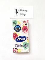 Носовые платочки Zewa Deluxe трехслойные 10 шт