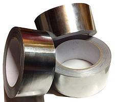 Скотч алюминиевый (фольгированный) усиленный армирующей пленкой AL+ PET 50мм (40м)