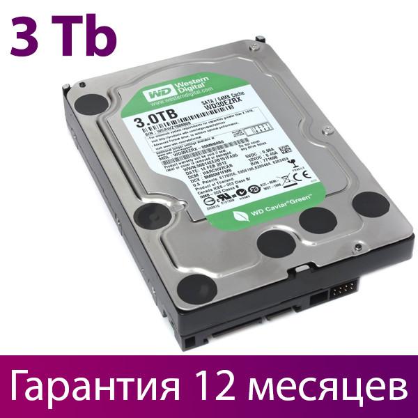 """Жорсткий диск для комп'ютера 3.5"""" 3 Тб/Tb Western Digital Green, SATA3, 64Mb (WD30EZRX), вінчестер hdd"""