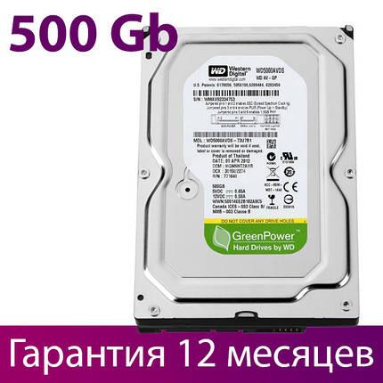 "Жесткий диск для компьютера 3.5"" 500 Гб/Gb Western Digital, SATA2, 32Mb, 5400 rpm (WD5000AVDS), винчестер hdd, фото 2"