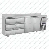 Стол холодильный барный GGM Gastro BGKF266A#2#SBGKF13