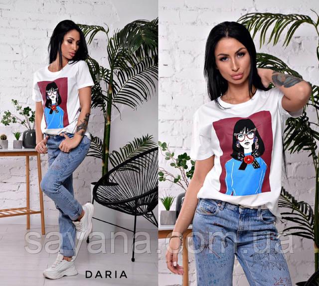 женская футболка со стразами и пайетками опт