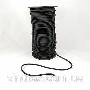 Резинка круглая (шляпная) 2 мм. Черная 100 м.