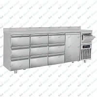 Стол холодильный барный GGM Gastro BGKF266A#3#SBGKF13