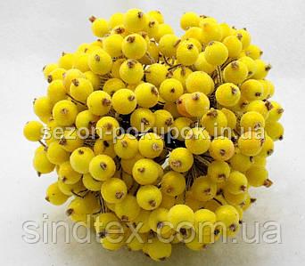 САХАРНАЯ калина D-12мм, 400 шт цвет - желтый (200 двухсторонних проволочек)