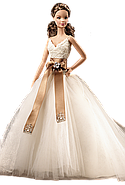 Колекційна лялька Барбі Monique Lhuillier Bride Barbie Doll, фото 5