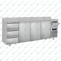 Стол холодильный барный GGM Gastro BGKF266A#SBGKF13