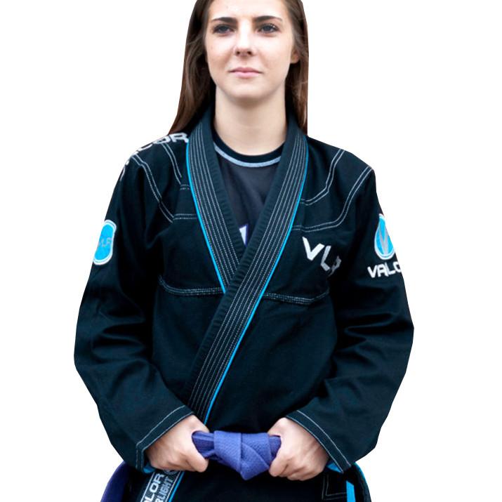 Женское кимоно для бразильского Джиу Джитсу Valor VLR Superlight Black
