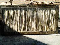 Забор из камыша в в деревянной рамке, щит декоративный в наличии и под заказ