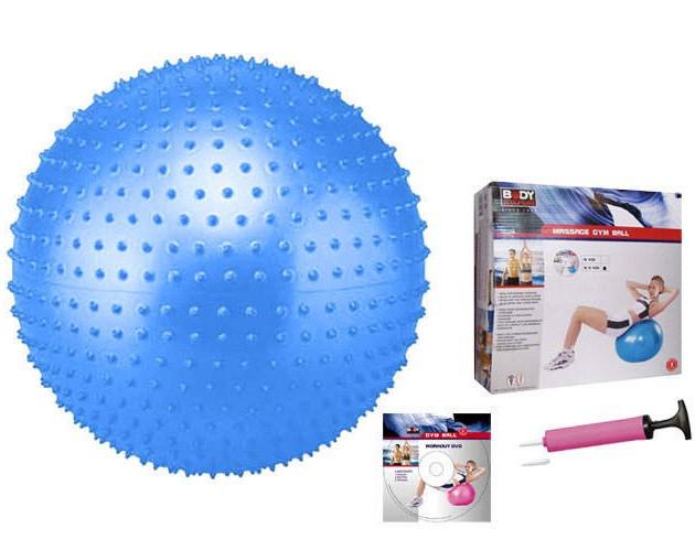 Мяч массажный для фитнеса (фитбол) 75см Body Sk (PVC, синий, ABS технология)
