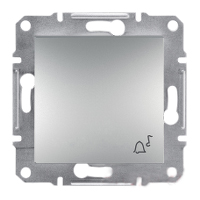 Кнопка «Звонок» самозажимные контакты Алюминий Schneider Asfora plus (EPH0800161)