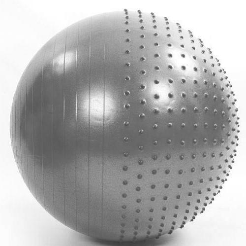 Мяч для фитнеса (фитбол) полумассажный Zelart 55 см (PVC, 1300 г, ABS, серый)
