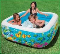 """Надувной бассейн для детей """"Аквариум"""""""