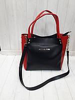 Женская сумка-шоппер Michael Kors пудра с черным
