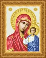 Схема для вышивки бисером Богородица Владимирская Венчальная