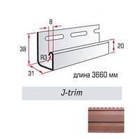 J-trim планка Канада+ красно-коричневый