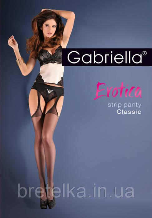Женские чулки с поясом 20 den Gabriella Strip Panty 235 черный
