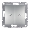 Выключатель для жалюзи Самозажимные контакты Алюминий Schneider Asfora plus (EPH1300161)