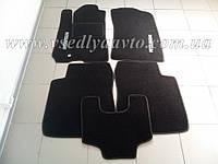 Ворсовые коврики в салон Mitsubishi Outlander с 2003-2007 гг. (Черные)