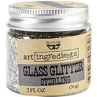 Скляний глітер - Sterling - Finnabair Art Ingredients Glass Glitter - 56 г.