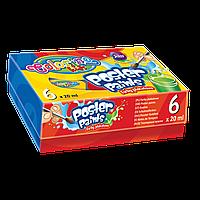 """Краски гуашевые Colorino 6 цветов 20 мл в картонной упаковке """"Стандартные цвета"""""""