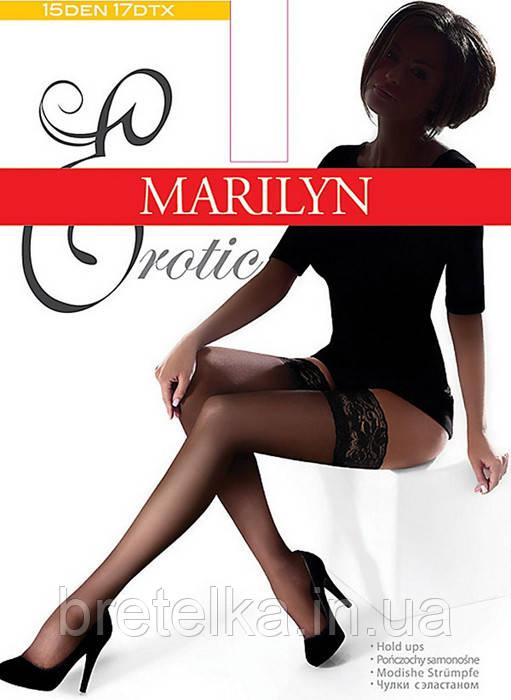 Женские чулки на силиконе 15 den Marilyn Erotic 15 черный