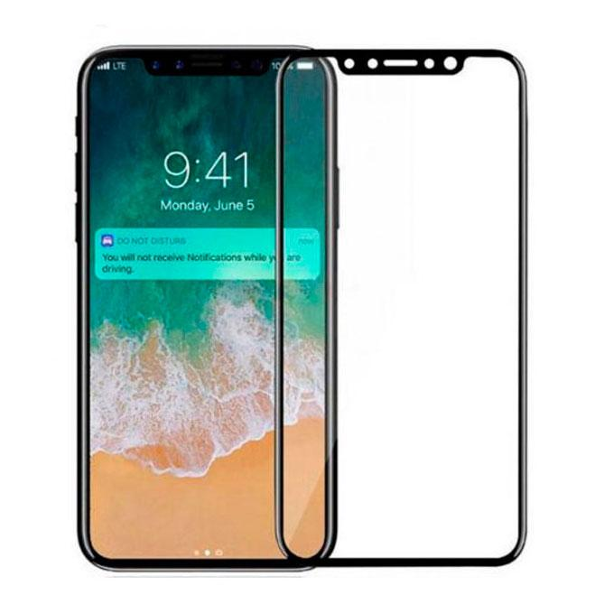 Защитное стекло Full Glue Apple iPhone X, iPhone XS black тех.пакет